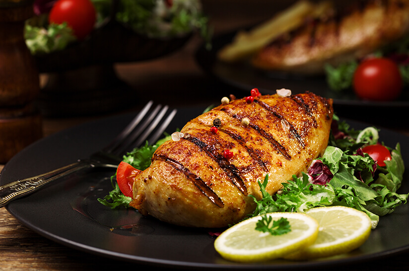 Enhance flavor with chicken or turkey protein